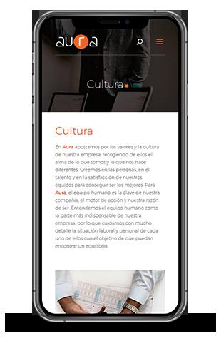 aura mobile proyecto web
