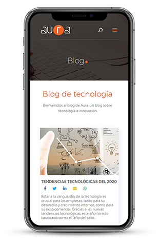 proyecto web aura mobile